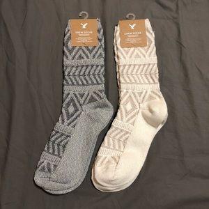 American Eagle AE Knitted Crew Socks Set